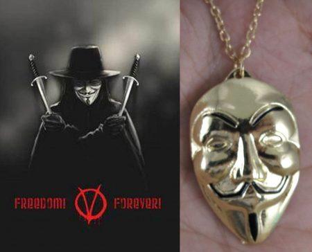 Vendetta Anonymus Maszk Nyaklánc