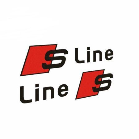 S Line Audi 2db-os Matrica Szett Fekete
