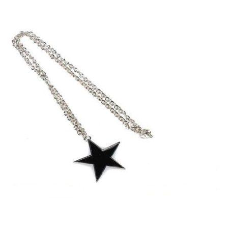 Csillag Fekete Nyaklánc