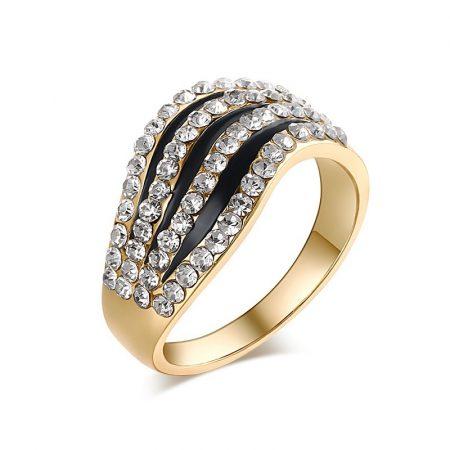 Kristályos Luxus Női Gyűrű 02