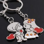 Menyaszony Vőlegény Szív Szerelem 2db-os Kulcstartó Szett Pároknak