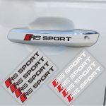 Audi RS Sport Matrica Fekete 4db-os Szett