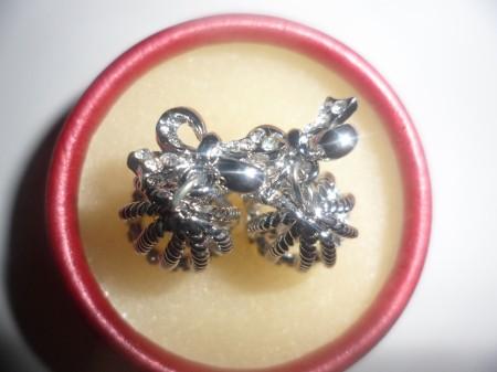 Ezüst Vagy Bronz Színű Kristályos Harang Gyöngy Fülbevaló