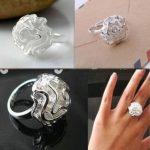 Rózsa Virág Állítható Gyűrű