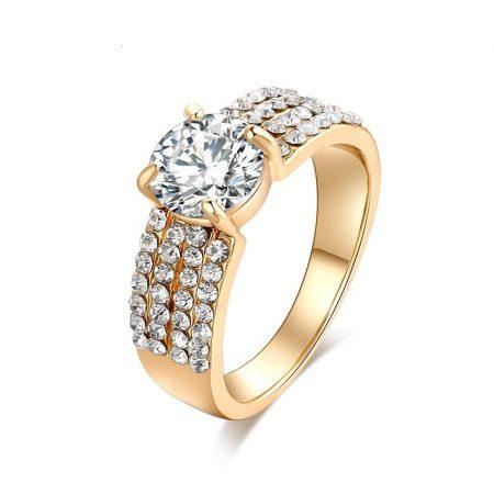 Kristályos Luxus Női Gyűrű