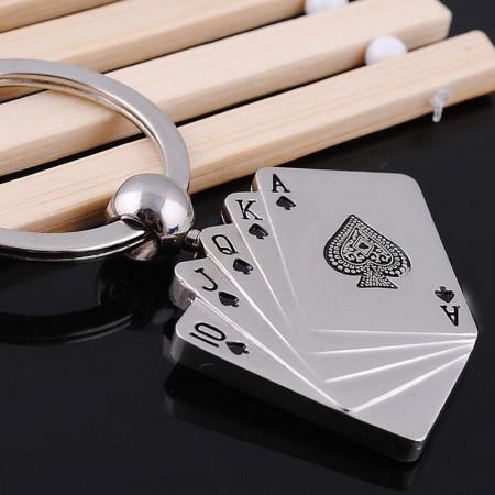 3D Póker Kártya Kulcstartó