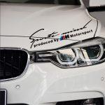 BMW M Motorsport Sport Mind Matrica Fekete
