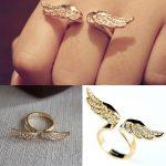 Kristályos Angyal Szárny Női Gyűrű