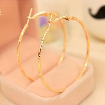 Arany Vagy Ezüst Színű Karika Fülbevaló