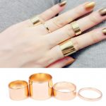 4db-os Arany Színű Női Gyűrű Szett