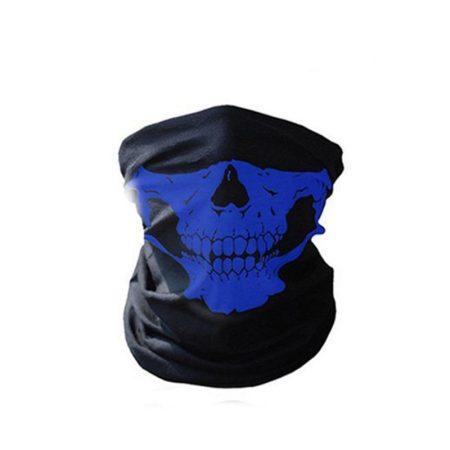 3D Koponya Koponyás Bandana Maszk Kendő Csősál Kék