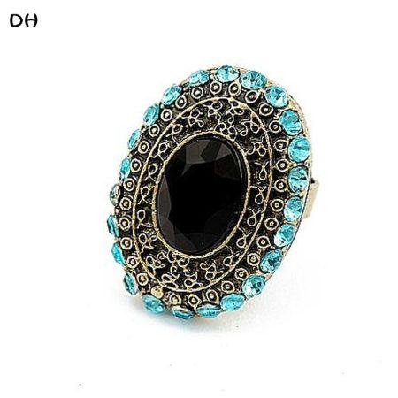 Kék Kristályos Köves Női Gyűrű
