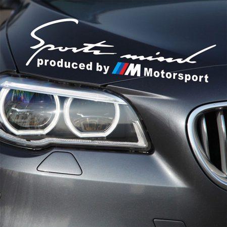 BMW M Motorsport Sport Mind Matrica Fehér