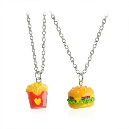 Hamburger Krumpli Páros 2db-os Nyaklánc Szett