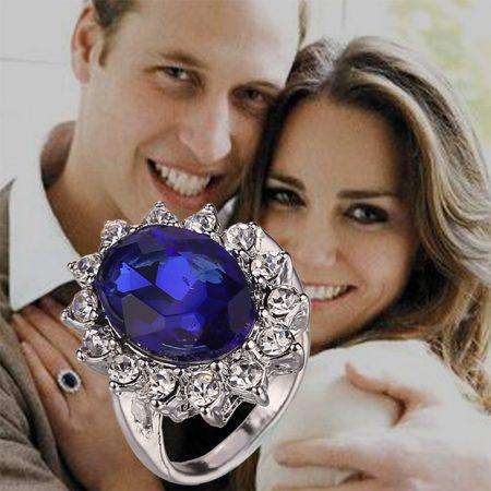 Diana és Kate Eljegyzési Gyűrűje Kristályos Gyűrű