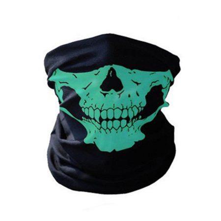 3D Koponya Koponyás Bandana Maszk Kendő Csősál Zöld