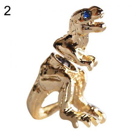 Tyrannosaurus T-rex Arany Színű Fülbevaló