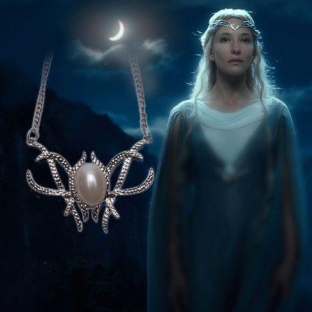Gyűrűk Ura Galadriel Hobbit Nyaklánc