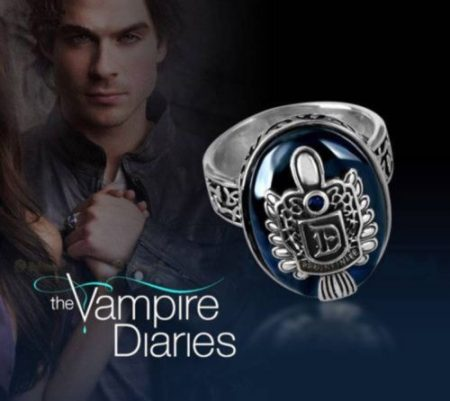 Vámpírnaplók Damon Salvatore Vampire Diaries Gyűrű