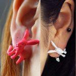 3D Nyuszi Nyúl Nyuszis Női Fülbevaló Pink Vagy Fehér