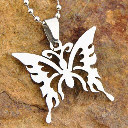 Pillangó Lepke Rozsdamentes Acél Nyaklánc