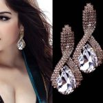 Kristályos Luxus Női Fülbevaló