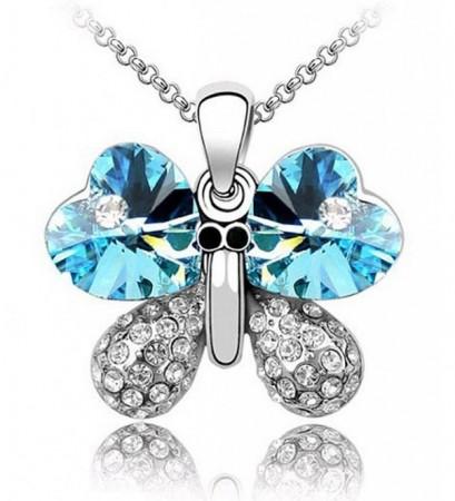 Pillangó Lepke Kristályos Nyaklánc