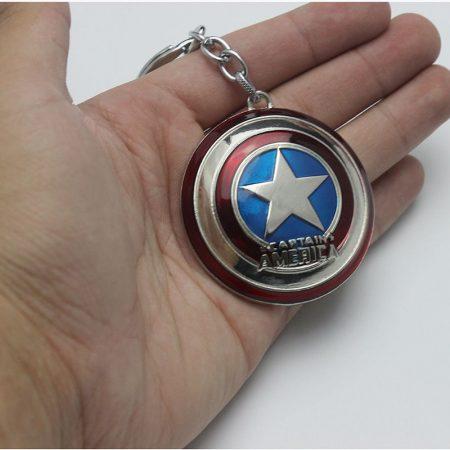 Amerika Kapitány Pajzs Kulcstartó