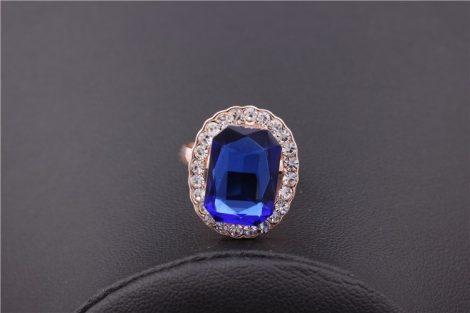 Kristályos Kék Köves Női Gyűrű