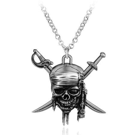 Karib Tenger Kalózai Halálfej Jack Sparrow Koponya Nyaklánc