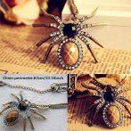 Kristályos Nagyméretű Pók Nyaklánc