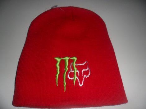 Monster Energy Fox Téli Sapka Piros