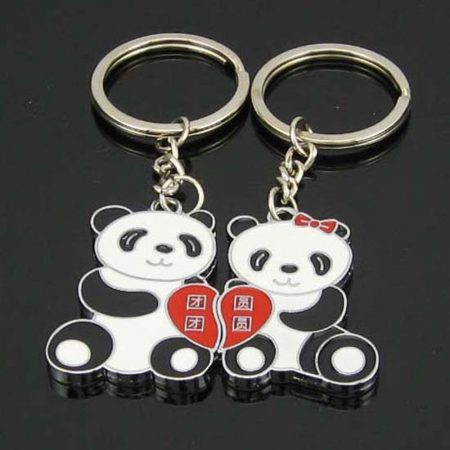 Panda Szív Szerelem 2db-os Kulcstartó Szett Pároknak