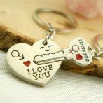 I Love You Szív Szíves Szerelmes Kulcs Kulcstartó 2db-os Szett Pároknak