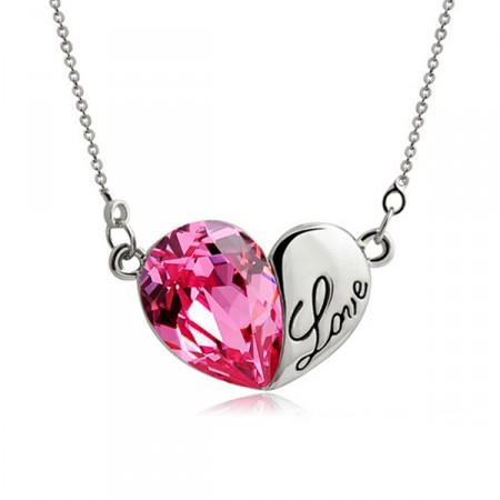 Pink Szív Szíves Love Nyaklánc