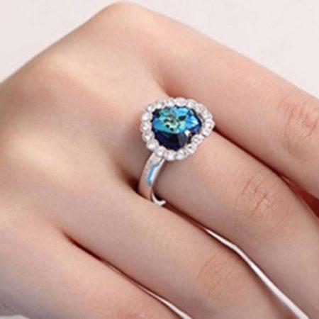 Titanic Kristályos Szív Szíves Női Gyűrű