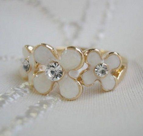 Virág Köves Női Gyűrű
