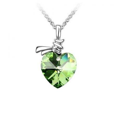 Szív Szíves Nyaklánc Zöld Vagy Lila Szín