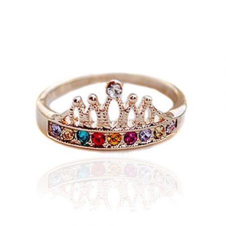 Korona Kristályos Női Gyűrű