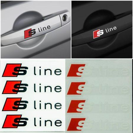 Audi S Line 2db-os Matrica Szett Fehér