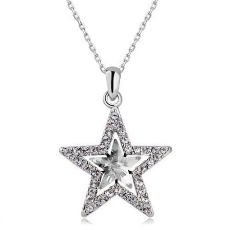 Csillag Kristályos Nyaklánc