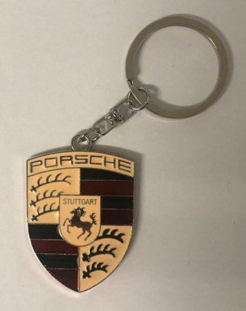 Porsche Bőr Autós Kulcstartó