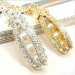 Kristályos Borsó Gyöngy Nyaklánc Arany Vagy Ezüst