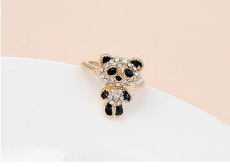 Kristályos Panda Női Gyűrű