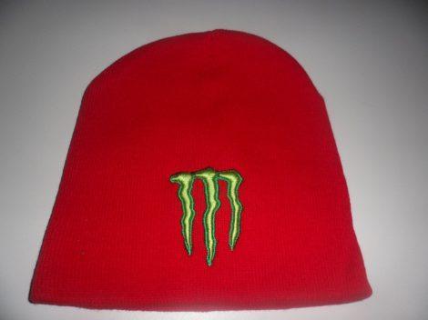 Monster Energy Téli Sapka Piros