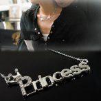 Princess Kristályos Hercegnő Korona Női Nyaklánc