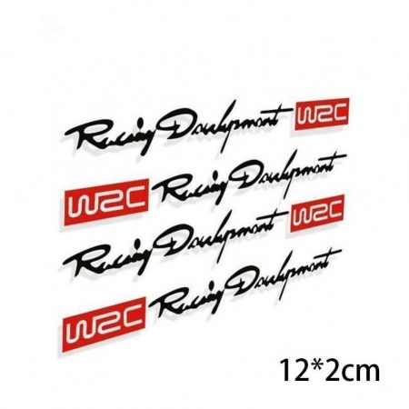 WRC Rali Racing Development Autó Ajtó 4db-os Matrica Szett Fekete