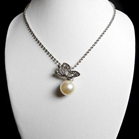 Pillangó Lepke Kristályos Gyöngy Női Nyaklánc