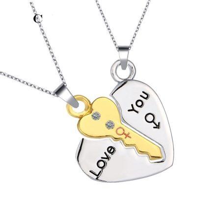 Szerelem Szív Szíves Kulcs 2db-os Nyaklánc Szett