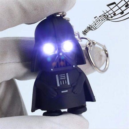 Darth Vader Star Wars Világító Hang Kulcstartó Fehér